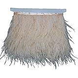 Kolight - Paquete de 1,8 metros de plumas de avestruz naturales tintadas, de 9 a 12 cm,...