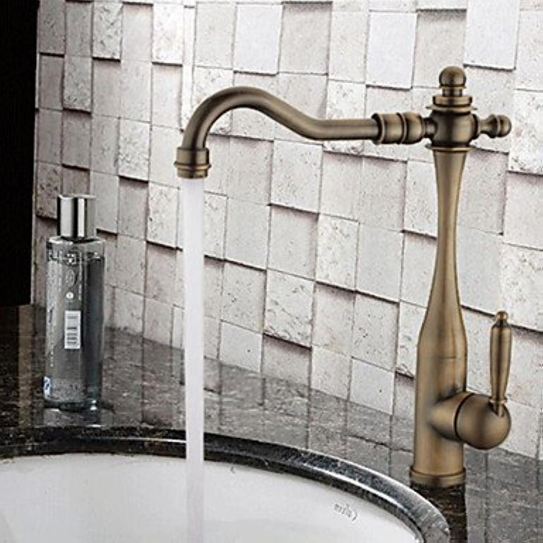 SUNNY KEY-Waschbecken Wasserhahn @ Antik Mittellage Breite spary with Keramisches Ventil Einhand Ein Loch for Antikes Kupfer , Waschbecken Wasserhahn