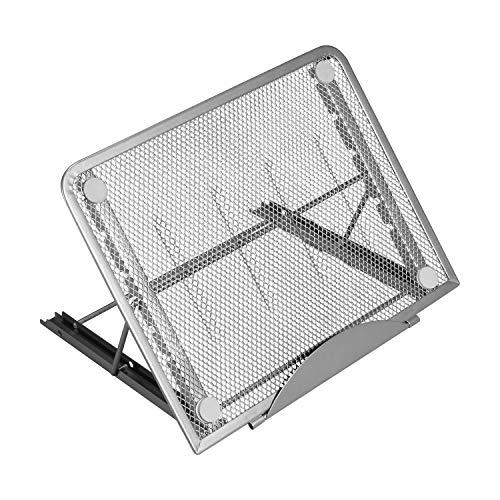 KUPVALON Laptop Ständer, Laptop Halterung 6-stufig Höhenverstellbar Tragbar Faltbar aus Belüftetem Aluminium Ergonomisch Notebook Ständer für 10-17 Zoll Laptop Tablet iPad Notebook MacBook
