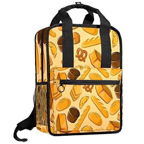 Herren-Wanderrucksack, Teenager, Camping, Tagesrucksack, Jungen, Studenten, Büchertasche, Mädchen, Mehrzweck-Handtasche, Backwaren, frisches Brot und Kuchen