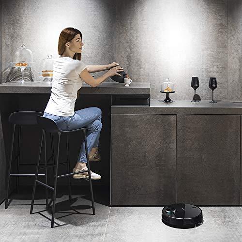 Cecotec 3490 Elite Conga Serie Robot Aspirador Gestión y edición de habitaciones. APP con hasta 5 mapas.Barre, Aspira, Pasa la mopa y Friega. Alexa y Google Home, Láser