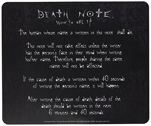 ABYstyle - DEATH NOTE - Tapis de souris - Règles