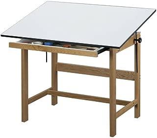 Titan Solid Oak Drafting Table - 42
