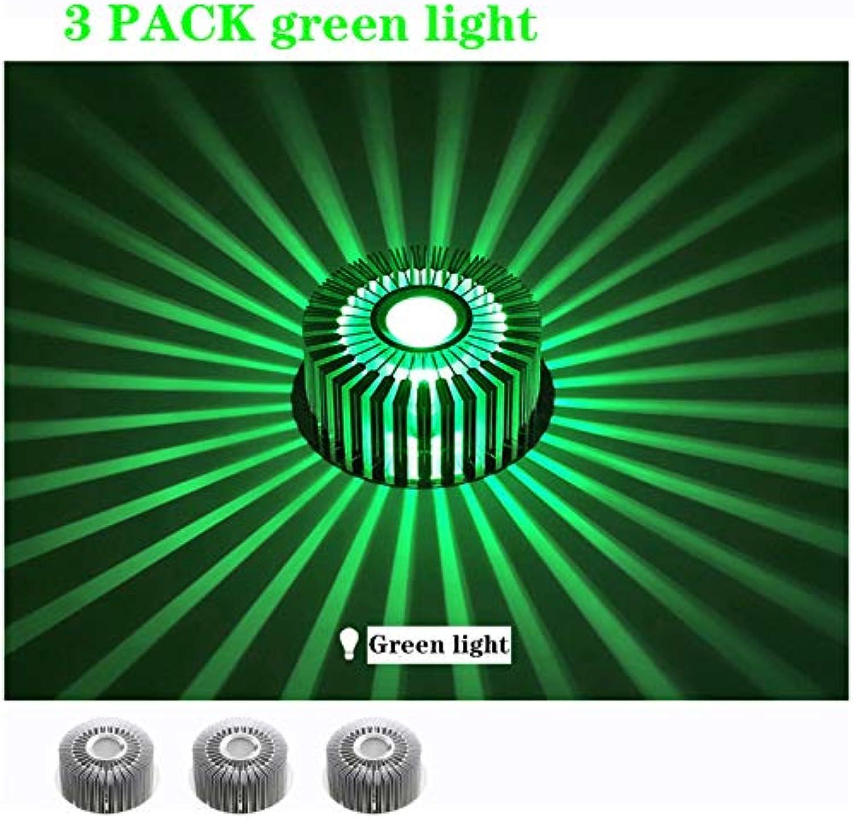 más vendido Luz de Techo Minimalista LED 3W Empotrable Downlight rojoondo rojoondo rojoondo Plata Aluminio Exquisita Decoración Ahorro de energía Pasillo Balcón Accesorio de iluminación (luz verde),3w,3pack  ¡envío gratis!