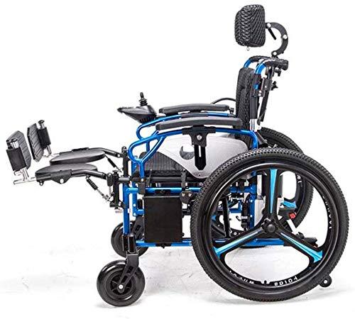 51HI420LN3L - Sillas de ruedas eléctricas para adultos Silla de ruedas eléctrica Silla de ruedas plegable y reclinable silla de ruedas, ancianos y discapacitados de cuatro ruedas del vehículo Cuidado, 150 kg de automobile