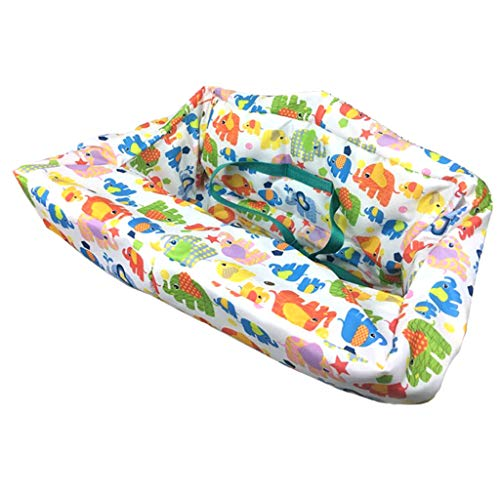 Best Buy! Toygogo Multifunctional Kids Folding Shopping Cart Cover Anti Dirty Cushion – Elephant, as described