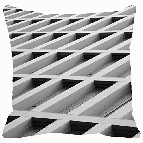 Architettura astratta Foto scattata con edifici estremamente bassi Punti di riferimento Fodere per cuscini Federe Divano Decorazioni per la casa 18X18In 326554-QAZ-2052