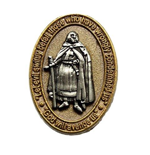 York Rite Jacques Demolay God Will Avenge Us Deluxe Freemason Masonic Lapel Pin