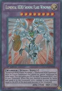 Yu-Gi-Oh! - Elemental HERO Shining Flare Wingman (LCGX-EN050) - Legendary Collection 2 - Unlimited Edition - Secret Rare