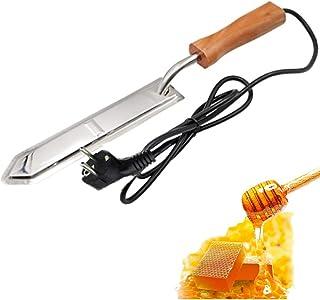 Elektrisches Honigmesser PROBEEALLYU, Honig-Heizungs-Auszieher-Messer-Honig, der Schaber mit hölzernem Griff, Geschenk-Honig-Schöpflöffel aufdeckt, schließen ein EU-Stecker