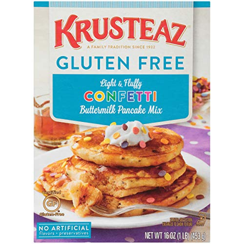Krusteaz Gluten Free Confetti Buttermilk Pancake Mix, 16 Ounce, Pack of 8