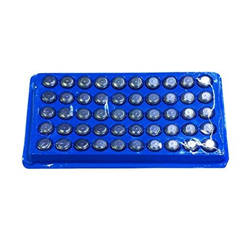 SODIAL(TM) 50 pezzi AG13/LR44/A76 Alkaline batteria a bottone