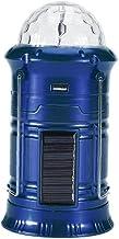 Inklapbare Kampeerlamp Solar Camping Lantaarn Led-licht Inklapbare Wandelen Noodlamplamp Lamp Blauw