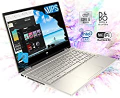 """14"""" diagonal FHD IPS micro-edge WLED-backlit multitouch-enabled edge-to-edge glass (1920 x 1080), Intel Core i5-8265U (1.6 GHz base frequency, up to 3.9 GHz with Intel Turbo Boost Technology, 6 MB cache, 4 cores) 256GB PCIe NVMe M.2 SSD, 8GB DDR4-240..."""
