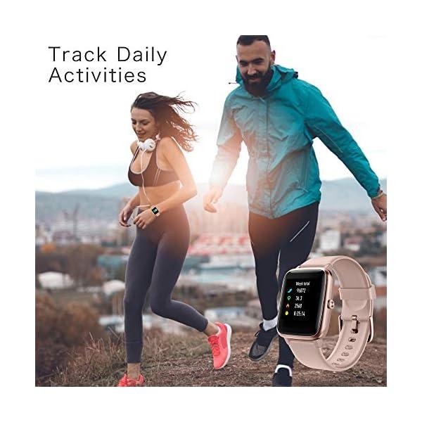 YONMIG Reloj Inteligente Mujer y Hombre, Smartwatch Impermeable IP68 Pulsera Actividad Deportivo con Monitor de Sueño… 7
