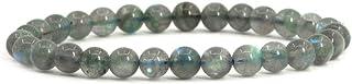 Justinstones Gem Semi Precious Gemstone 6mm Round Beads Stretch Bracelet 6.5 Inch