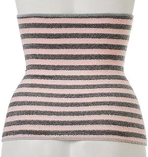 Binchotan Haramaki Body Warmer Belt Japan Bico Stripes Light Grey Baby Pink