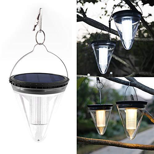 PopHMN zonne-hanglamp, 1 stks led opknoping licht koel/warm wit tuin lamp met clip voor oprit patio binnenplaats werf boom tafel