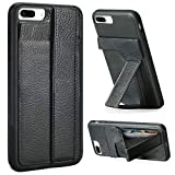 ZVEdeng iPhone 7 Plus Case, iPhone 7 Plus Kickstand Case,Vertical and Horizontal Stand Hand Strap Leather Case with Credit Card Holder Slot Shockproof Slim Case Cover for Apple iPhone 7 Plus 5.5''