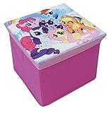 FUN HOUSE My Little Pony Tabouret de Rangement pour Enfant, Carton et intissé, 30x30x30 cm