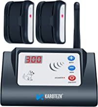 KAROTEZH Electric Fence for Dogs Collars, Wireless Electric Dog Fence Containment System with Adjustable, Rechargeable, Waterproof Training Collar & Stable Signal for Indoor Outdoor