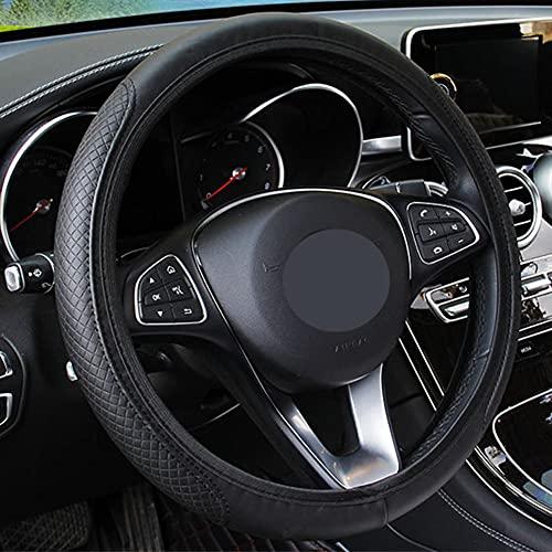 USNASLM Funda para volante de coche, transpirable, antideslizante, para asiento Ibiza León, Alhambra, Toledo, Córdoba, Altea XL, Skoda Rapid a5 a7 Superb