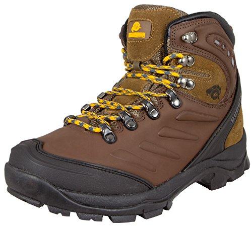 GUGGEN Mountain Herren Wanderschuhe Bergschuhe wasserdicht Outdoor-Schuhe Walkingschuhe M013, Farbe Braun, EU 40