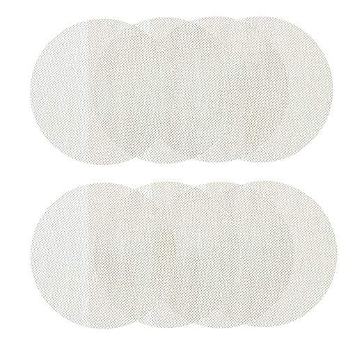 8 Stück Silikon-Dampfgarer-Einsatz mit Antihaftbeschichtung für Dampfgarer, runde Dampfgarer-Netzmatte, zur Herstellung von gedämpften Brötchen, Knödel, Dim Sum usw. (33 cm im Durchmesser)