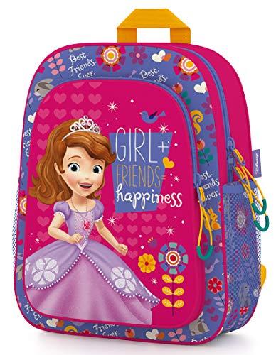 Disney Sofia The First kinderdagrugzak kleuterschooltas voor meisjes 3-6 jaar| zeer licht | ruim | 30x24x11,5 cm | kinderrugzak