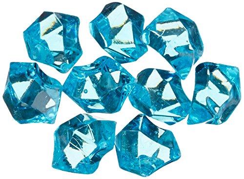 "Homeford FPF0750407TQ 150 Piece Acrylic Ice Rocks Crystal Vase Filler, 1"", Turquoise"