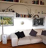Volerò Shopping Online, Lampada ad Arco, Modello Atena, Base in Marmo, Stelo Sezione Rettangolare.