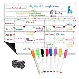 Pizarra magnética del refrigerador A3 - Horario semanal, Cronograma mensual, Refrigerador y Bloc de...