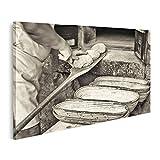 islandburner Bild Bilder auf Leinwand Brot backen Alte