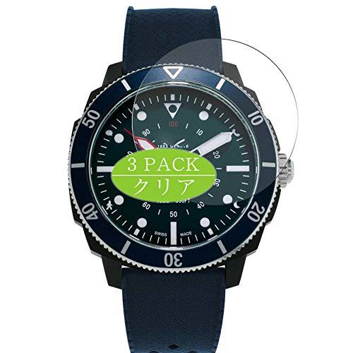 Vaxson 3 Stück Schutzfolie, kompatibel mit Alpina Seastrong Horological 44mm Smartwatch Hybrid Watch, Displayschutzfolie Bildschirmschutz Blasenfreies [nicht Panzerglas]