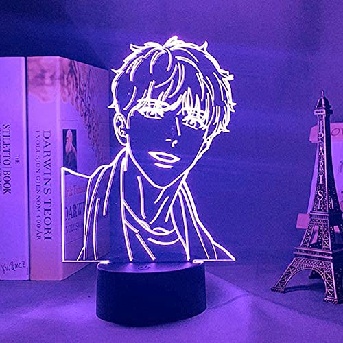 3D anime ilusión lámpara LED noche acrílico anime AJ Alex colorido sensor táctil AHN Jiwon lámpara de mesa BJ Alex regalo cama decoración