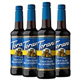 Torani Sugar Free Syrup, Chocolate Macadamia Nut, 25.4 Ounces (Pack of 4)...