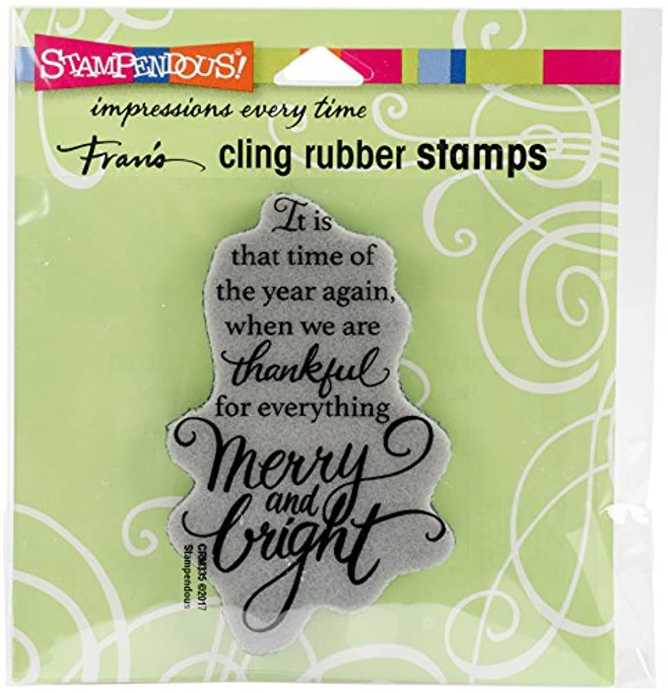 STAMPENDOUS Thankful Cling Rubber Stamp