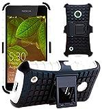 G-Shield Hülle für Nokia Lumia 530 Stoßfest Schutzhülle mit Ständer - Weiß