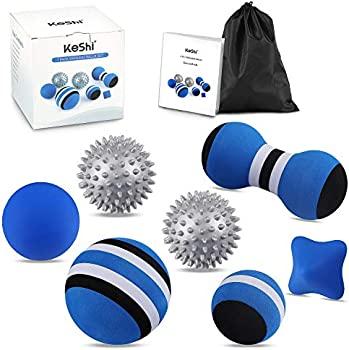 Lacrosse Balls 7-in-1 KeShi Massage Therapy Balls Kit