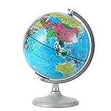ROSEBEAR Globo Geográfico Globo Terráqueo Globo de Pie con Luz Nocturna Ideal para La Decoración de Oficinas de Enseñanza de Geografía. (20 Centímetros)