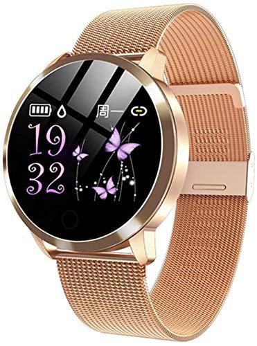 Reloj inteligente de oro rosa, electrónico, para hombre y mujer, resistente al agua, deportivo, pulsera de fitness, reloj inteligente adecuado para Android IOS