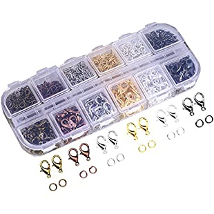 Customer reviews Ucatcher Assorted Colors Lobster Claw Clasps and Mixed Color Open Jump Rings with Case for Jewelry Making Purses