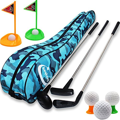 heytech Kid's Toy Golf Clubs Set Deluxe Outdoor Golf Toy Set Toddler, Children, Preschool Kids Early Educational Toy, Gift for Girls, Boys, Toddlers, Kids