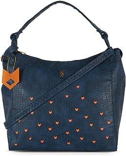Baggit Women's Synthetic Shoulder Bag (Blue) (Lxe Dustin)