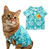YuDanae Shirt for Cat Small Dog Pet Cosplay Costume (S, Green)