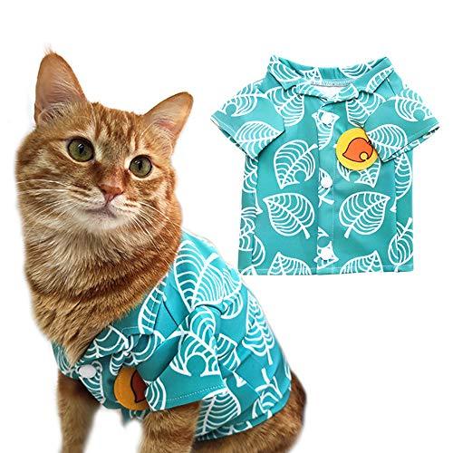 YuDanae Animal Tom Nook Camisa para gato pequeño perro mascota Cosplay disfraz (S, blanco)