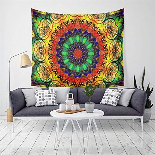 Mantas Coloridas geométricas psicodélicas Mandala Tapiz Colgante de Pared Tapiz Bohemio Mantas Mandalas