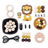 let's make Baby Kinderkrankheiten Anhnger Spielzeug Silikon Achteckige Perlen Schnuller Clips DIY Perlen Set fr Schmuck Machen Beiring Kit Lion King Serie
