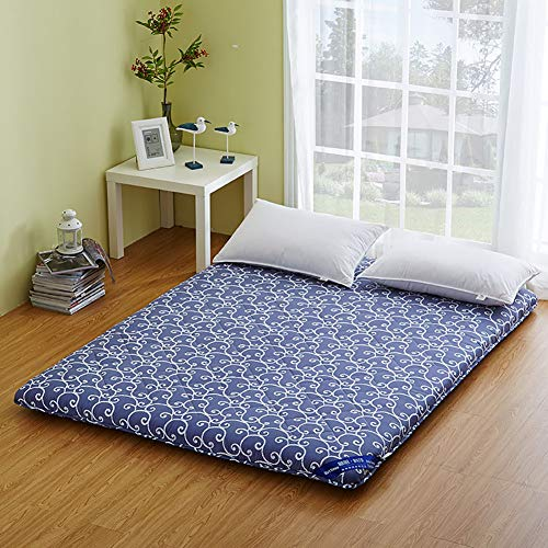 Antirutschmatratze, faltbar, japanische Futonmatratze, Doppelmatratze, für Wohnzimmer, Schlafzimmer, Dicke Tatami-Matratze Full:120x200cm B