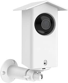 BECEMURU Camera Mount with Weatherproof Case for Wyze Cam Pan/Xiaomi Mijia Dafang Security Camera,360 Degree Swivel Metal Wall Mount Bracket+Waterproof Protective Case Mounting Kit (White)